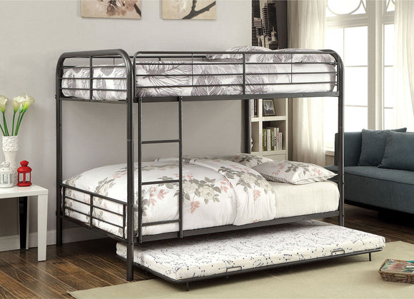 Brocket - Metal Full/full Bunk Bed - Gun Metal