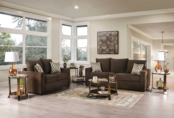 TAMMI - Sofa + Loveseat - Brown