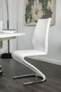 Side Chair (2/ctn) - White/Chrome