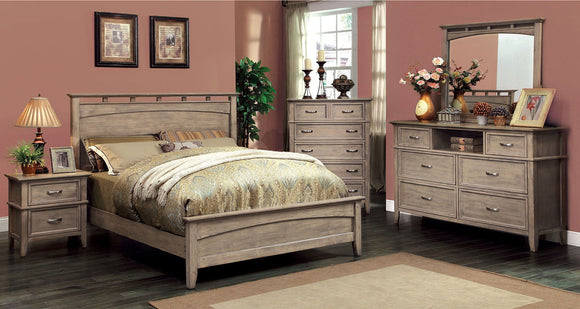 Loxley - 5 Pc. Queen Bedroom Set w/ 2NS - Weathered Oak