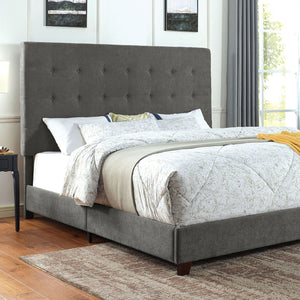 Carroll - E.King Bed - Gray