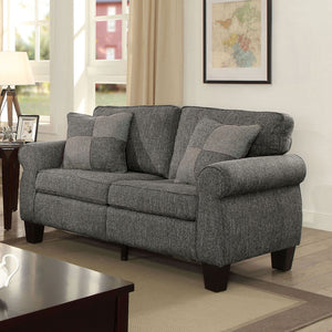 Rhian - Love Seat, Dark Gray
