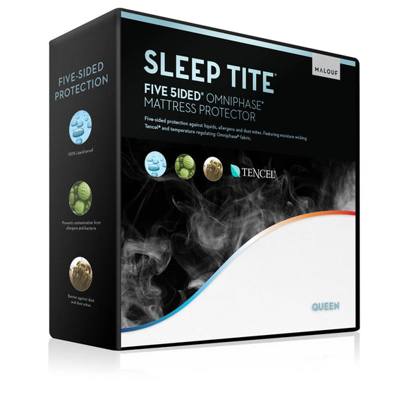 Five 5ided® Mattress Protector with Tencel® + Omniphase® Twin