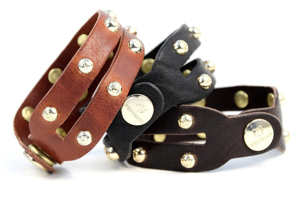 Studded Bracelet vintage leather