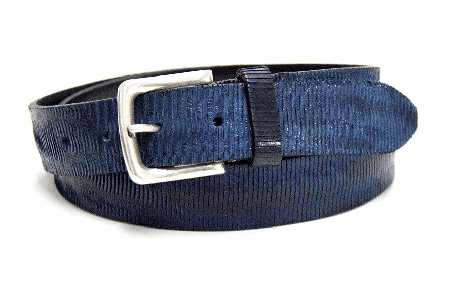 Jeans belt made of solid vintage leather