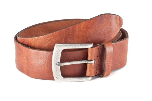 Vintage leather jeans belt men