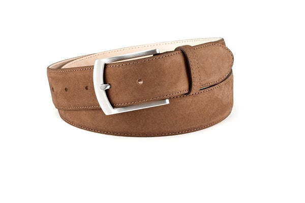Fine nubuck leather belt