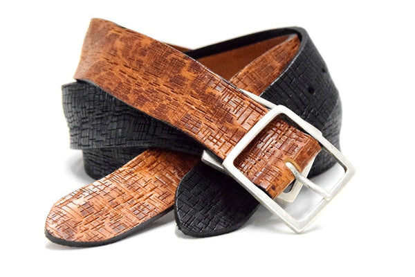 Vintage leather jeans belt