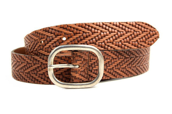 Womens embossed belt
