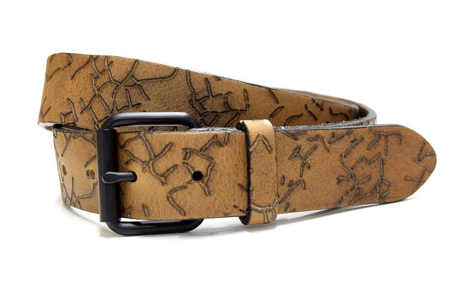 Black buckle grizzley belt