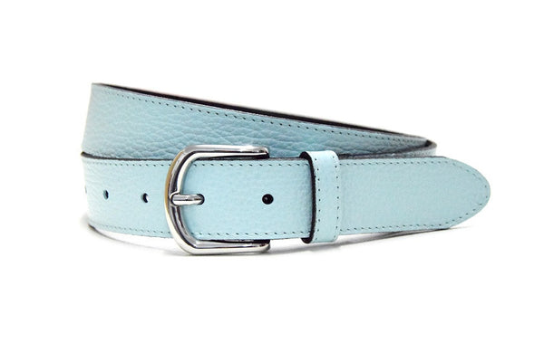 Minimal jeans belt light blue