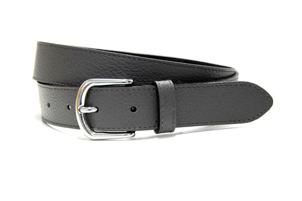 Minimal jeans belt dark grey