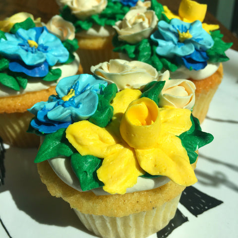 Spring Flowers Cupcake - Falls Church