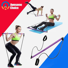 Load image into Gallery viewer, Resistance Bands Pilates Stick - Golden Hart