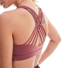 Load image into Gallery viewer, Back Cross Strappy Sports Bra - Golden Hart