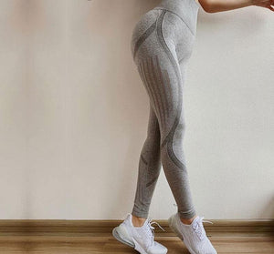 High Waist Yoga Leggings - Golden Hart