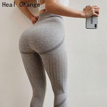 Load image into Gallery viewer, High Waist Yoga Leggings - Golden Hart