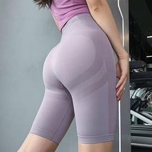 Load image into Gallery viewer, High Waist Yoga Shorts - Golden Hart