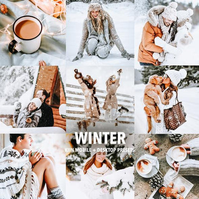 5 WINTER WONDERLAND LIGHTROOM MOBILE & DESKTOP PRESETS