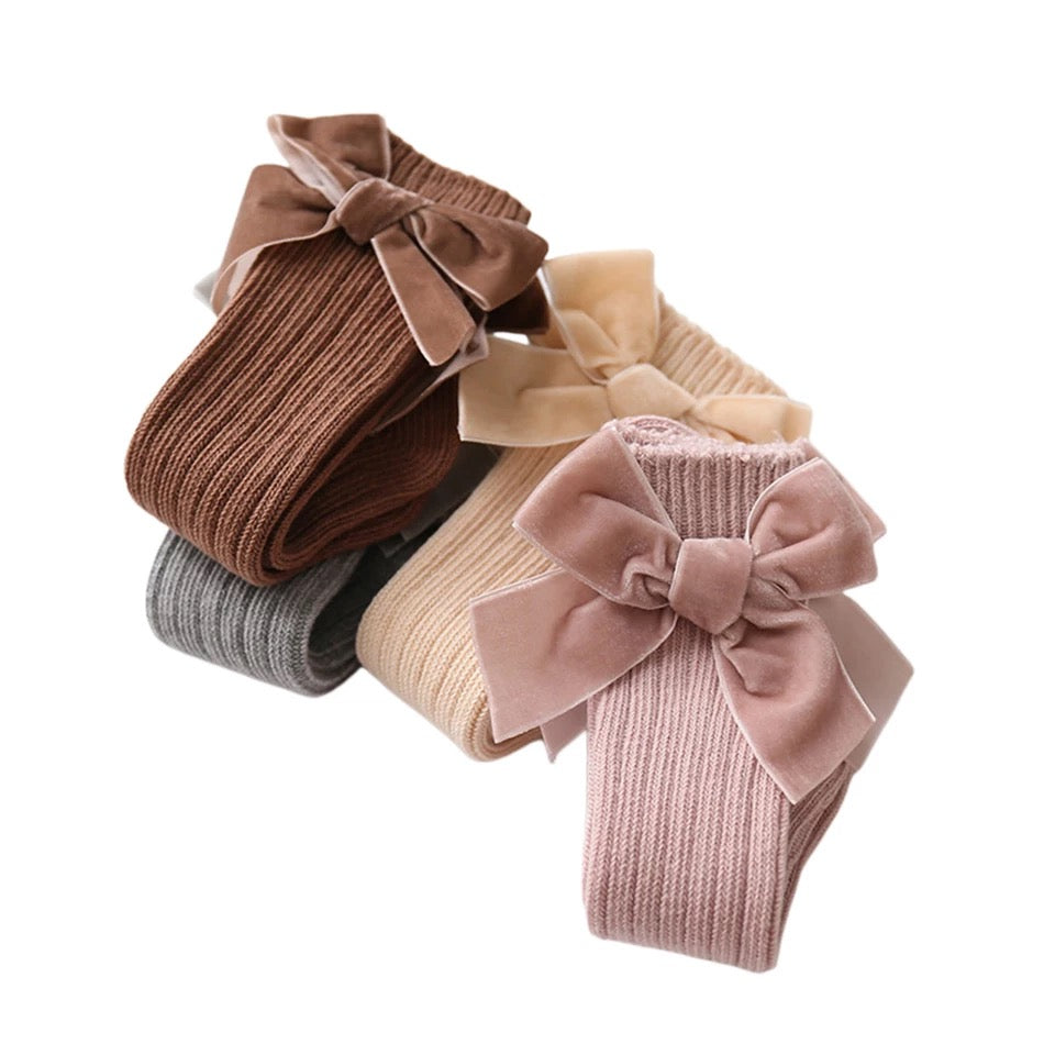 Knee High Bow Socks (4 colours)