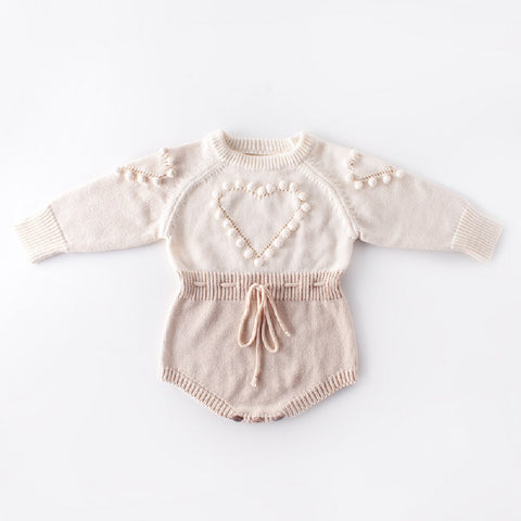 Heart PomPom Romper (2 colours)
