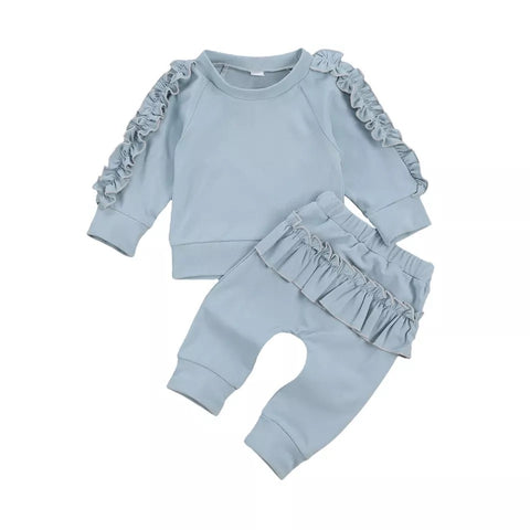 Frill Sweatshirt Tracksuit (4 colours)