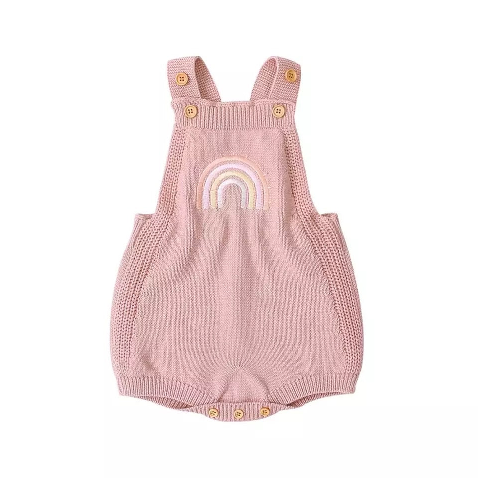 Rainbow Knitted Romper (2 colours)