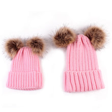 Load image into Gallery viewer, Mum & Mini Pompom Hat (6 colours)