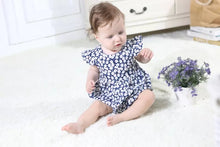 Load image into Gallery viewer, Navy Daisy Romper