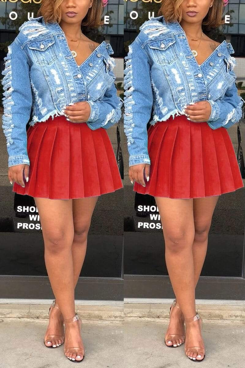 Fashion Sexy Pleated Short Skirt