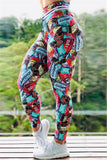 Fashion Sports Printed Skinny Trousers