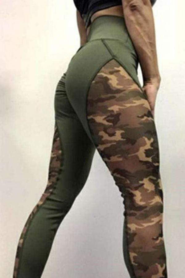 Sports Camouflage Printed Yoga Pants