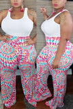 Fashion Casual Print Plus Size Trousers