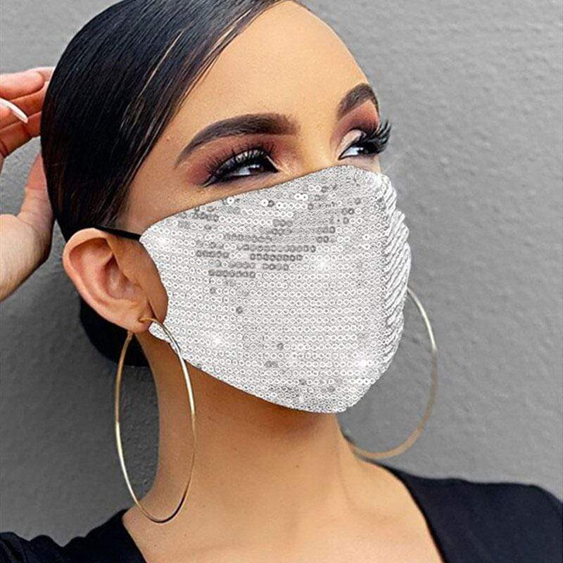 Fashion Sequin Design Face Protection