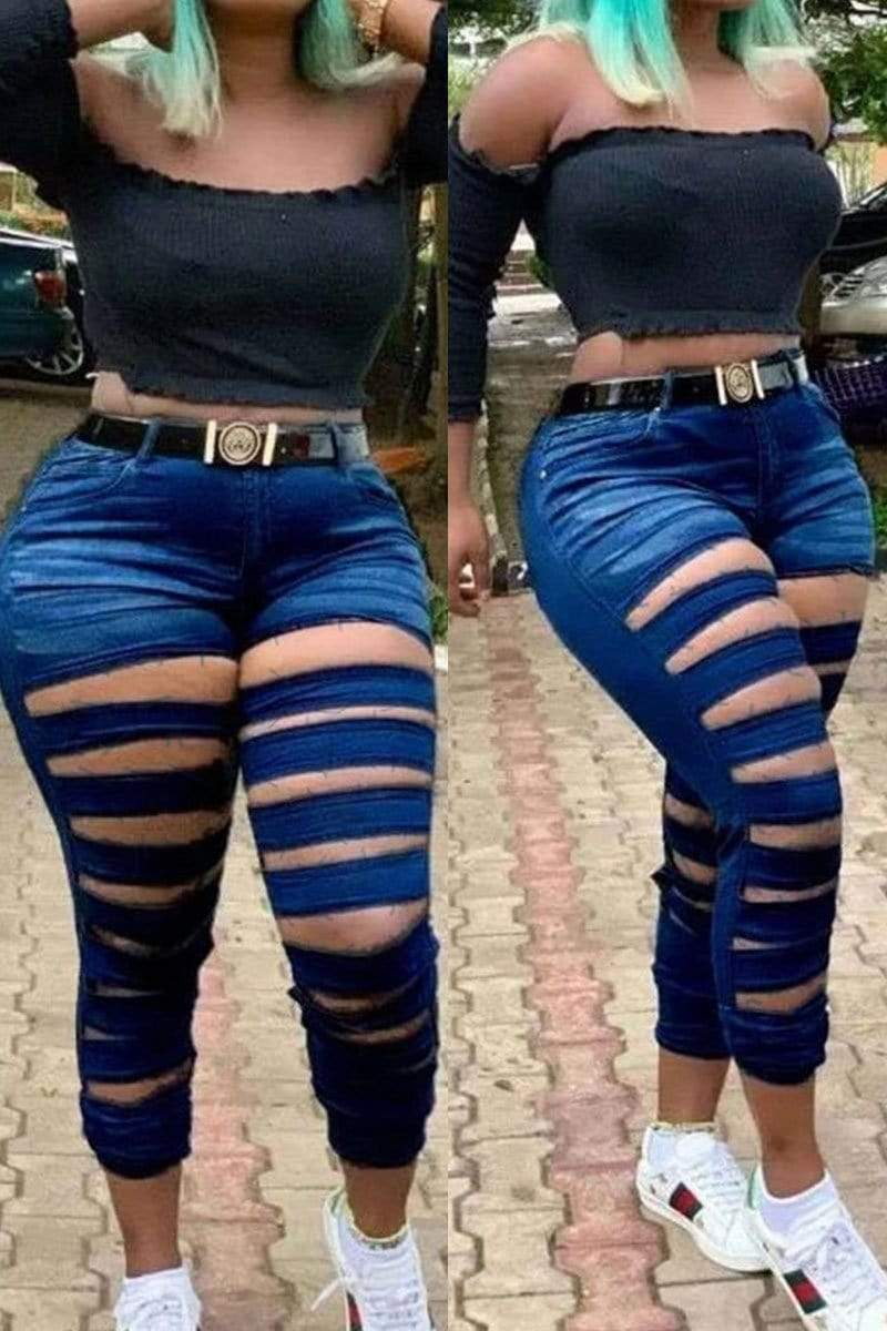 Fashion Sexy Skinny Jeans (Without Belt)