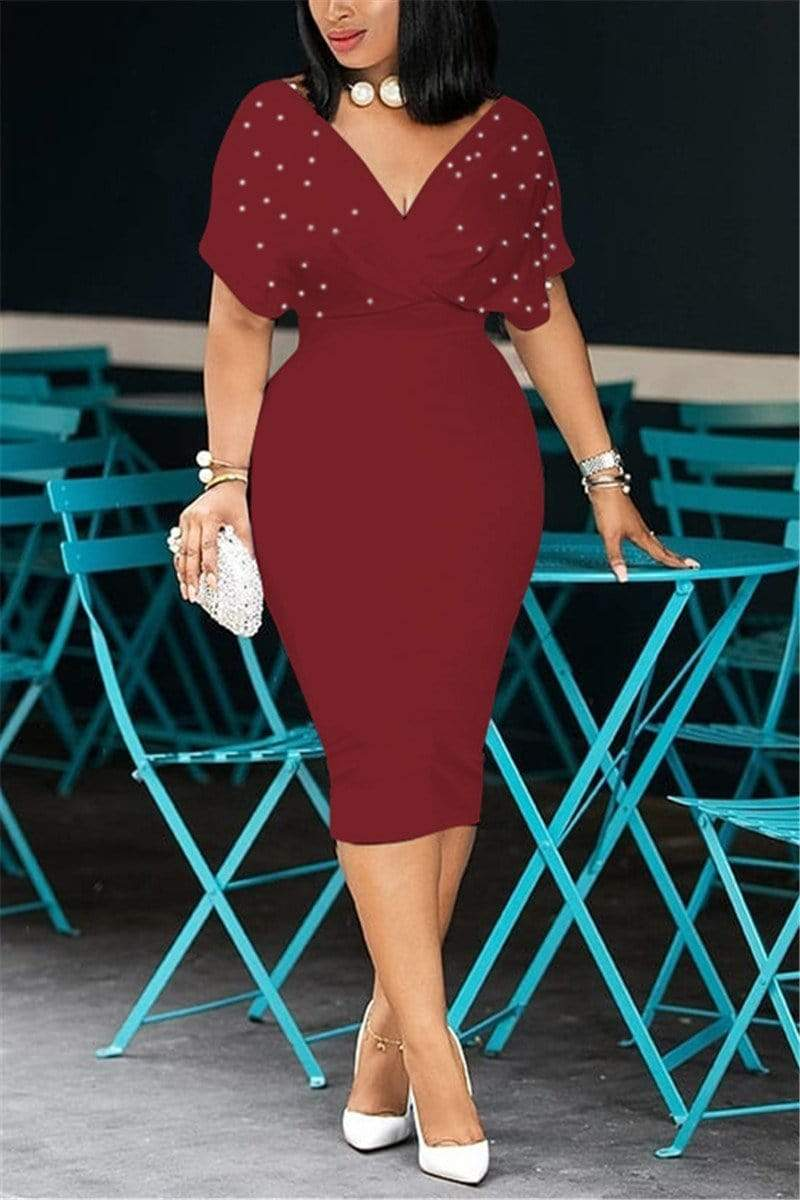 Trendy Sexy V Neck Dress