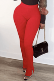 Fashion High Waist Split Trousers