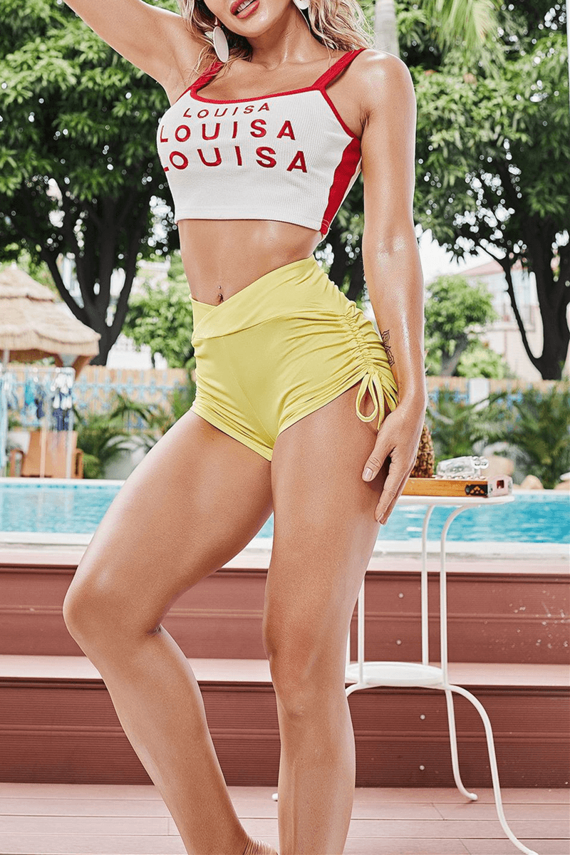 Fashion Sexy Sportswear Solid Color Shorts