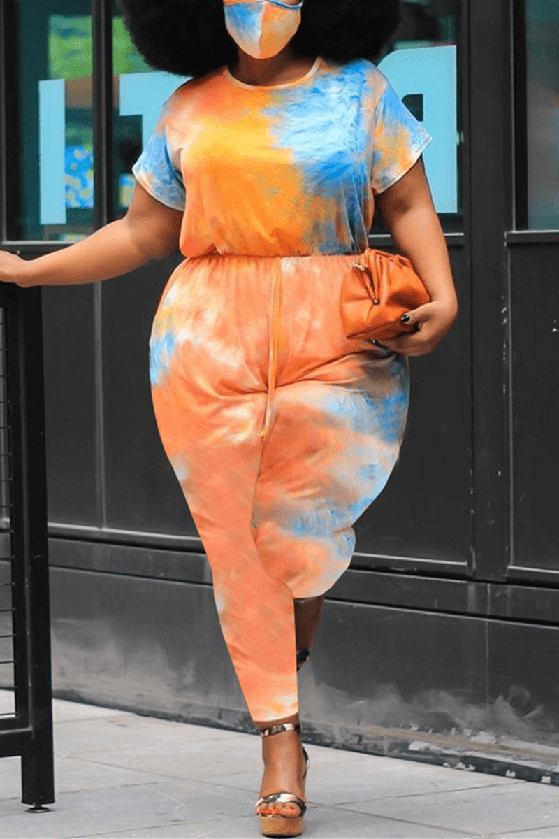 Fashion Casual Street Print Plus Size Jumpsuit