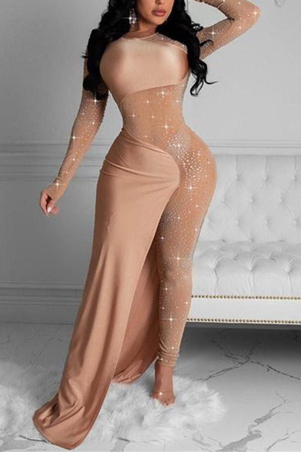 Fashion Sexy Hot Drilling Skinny Jumpsuits