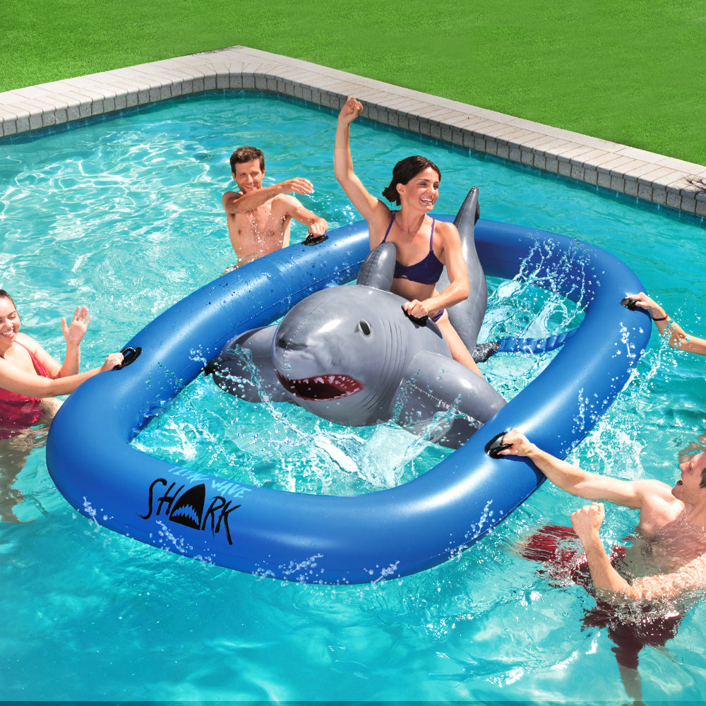 Bestway 3.1m Inflatable Pool Floating Raft Bull Riding Toy Raft Float Play Pool