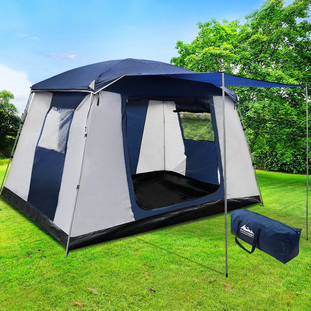 6 Person Dome Camping Tent - Navy and Grey