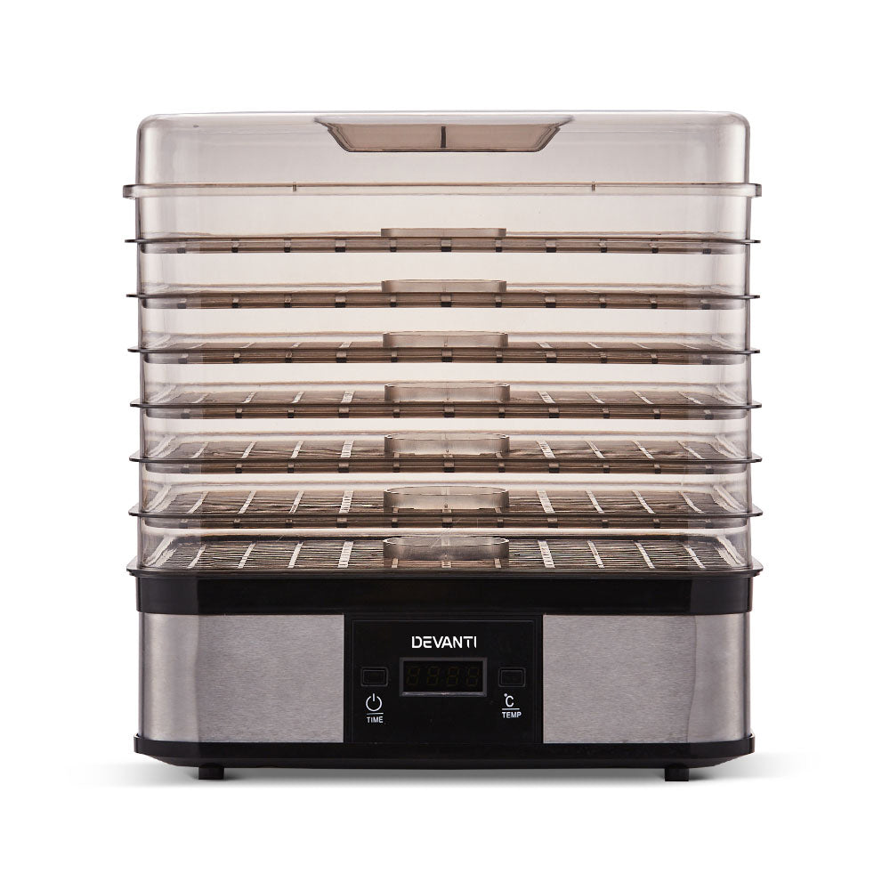 Food Dehydrator with 7 Trays - Silver