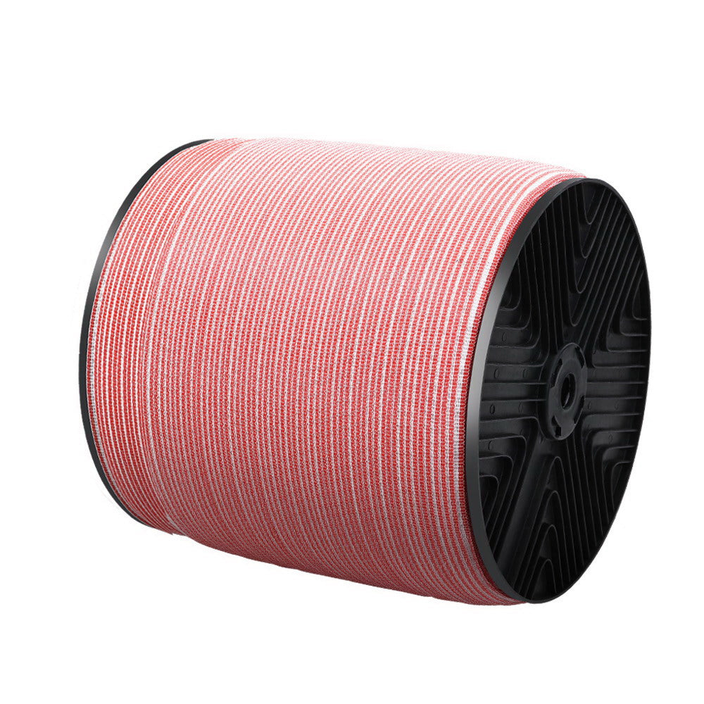 Giantz 2000M Electric Fence Wire Tape Poly Stainless Steel Temporary Fencing Kit - AusWide Deals