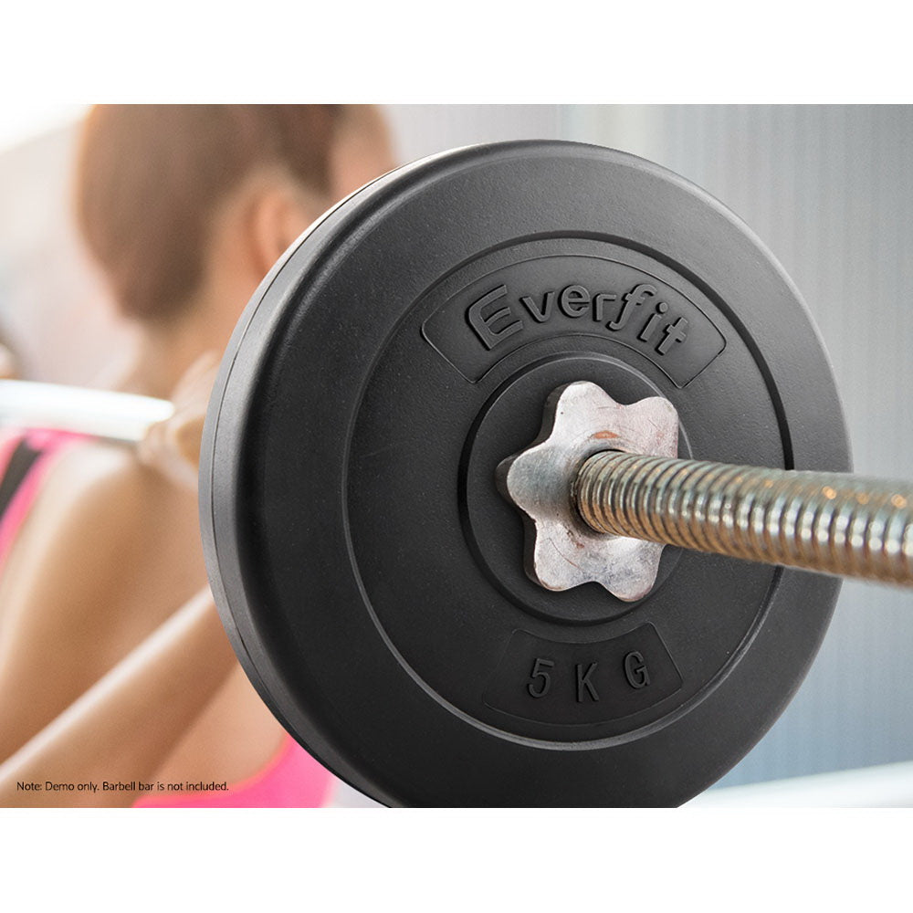 Everfit Home Gym Weight Plate 2 x 5KG - AusWide Deals
