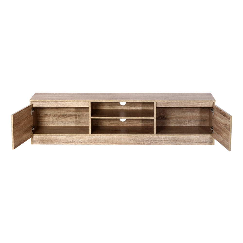 160CM TV Stand Entertainment Unit Lowline Storage Cabinet Wooden
