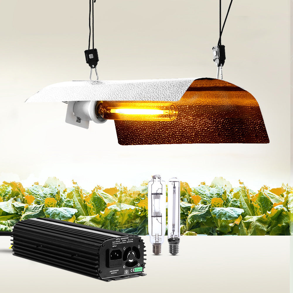 Greenfingers 600W HPS MH Grow Light Kit Digital Ballast Reflector Hydroponic Grow System Kit