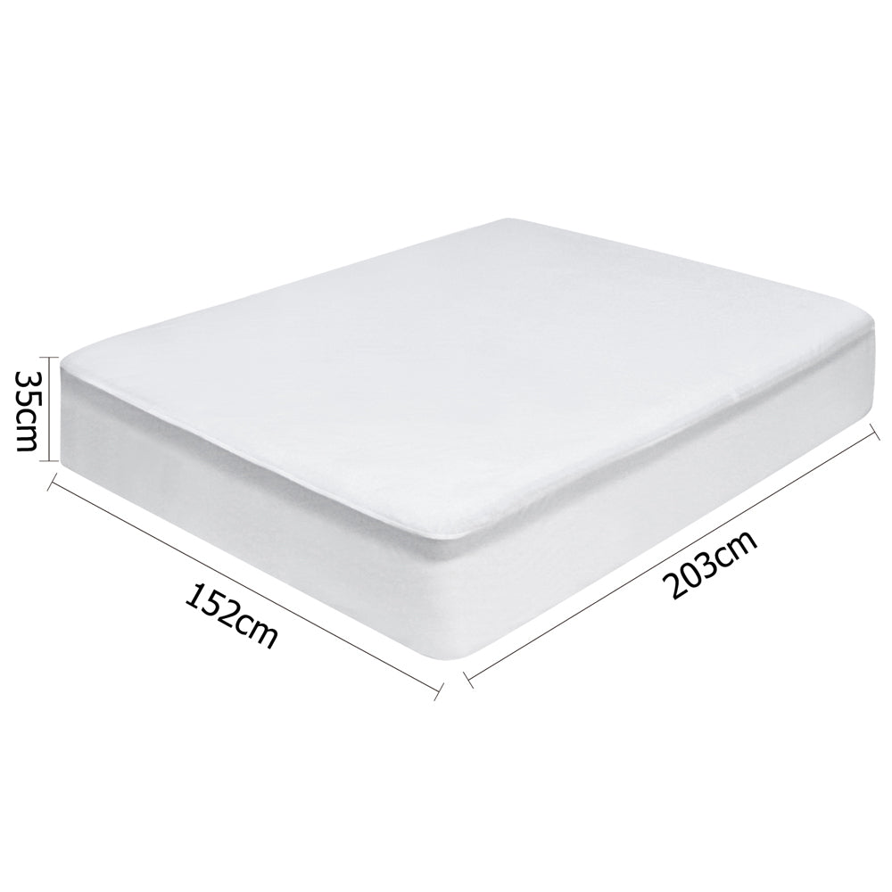 Queen Size Terry Cotton Mattress Protector