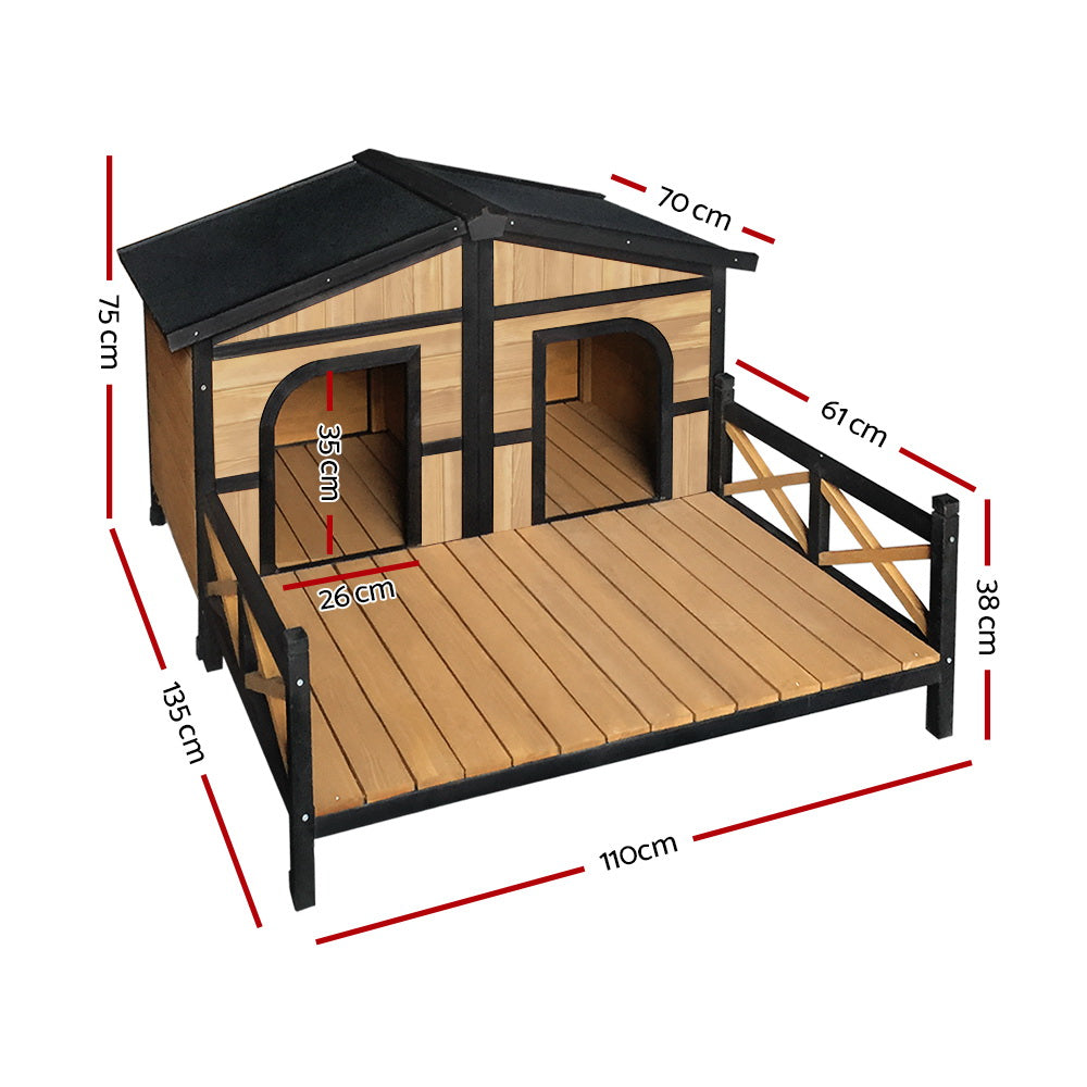 i.Pet Extra Extra Large Wooden Pet Kennel - AusWide Deals
