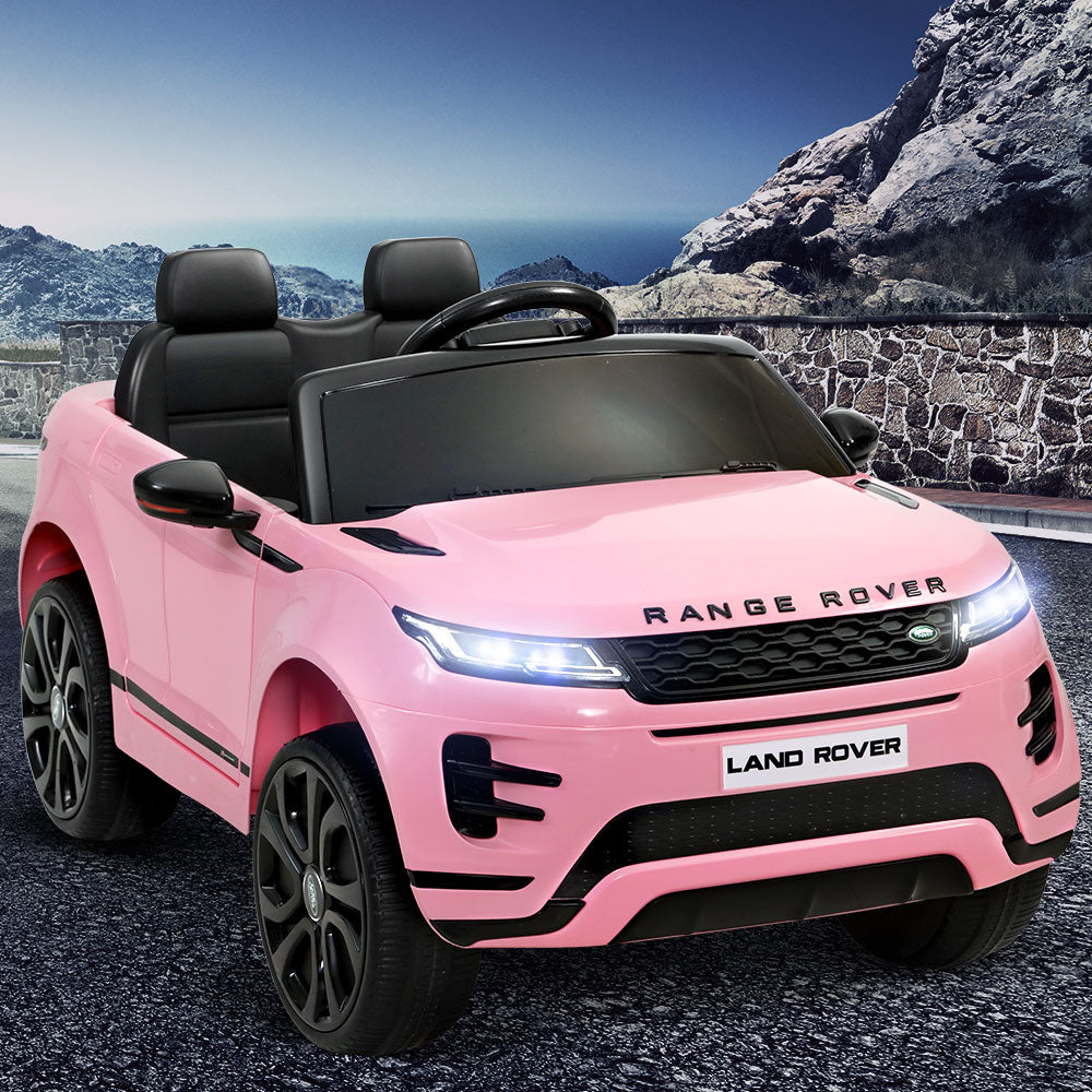 Kids Ride On Car Licensed Land Rover 12V Electric Car Toys Battery Remote Pink